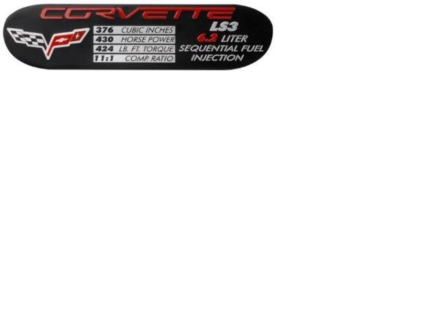 2008 2009 corvette dataplate ls3 engine specifications without z06 davies corvette parts