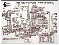 1961 - 1962 Corvette Diagram, electrical wiring - Davies ...