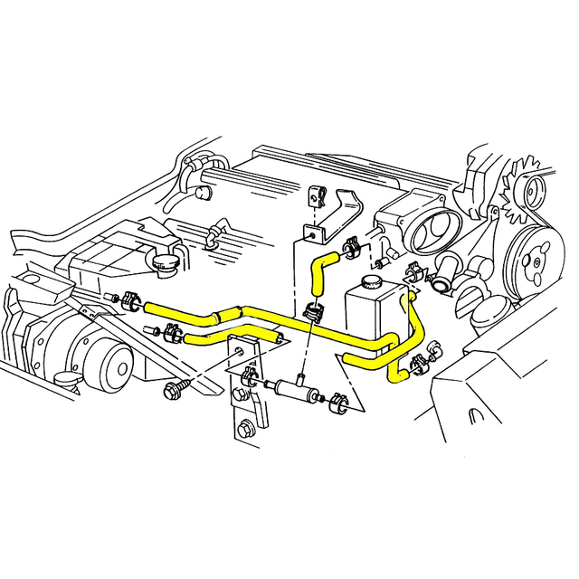 Hose Set Engine Radiator Coolant Heater Lt1 Engine 1993 1994 on Chevy 350 Engine Vacuum Hose Diagram