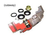 1965 - 1966E Brake Caliper Set, stainless steel sleeved (replacement style)