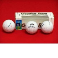 Golden Ram Golf Balls with C4 Corvette Logo