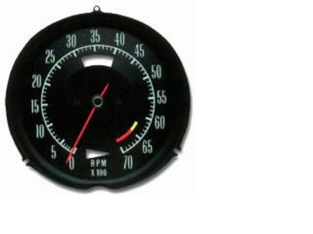 1969 Corvette Tachometer, engine RPM gauge (427 L88 engine ...