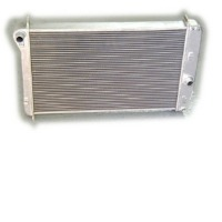 "Corvette Radiator, aluminum ""Direct Fit"" super-cool (automatic without engine oil cooler on left side)"