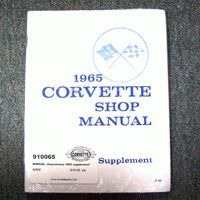 1965 Manual, shop/service (supplement to 1963 manual)