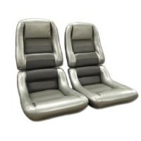 1982 Seat Cover Set Mounted on Foam, original 100% leather - Collectors Edition
