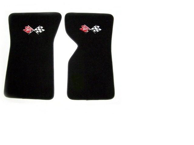 1976 1981 Corvette Floor Mat Pair Embroidered Front