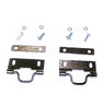 1956 - 1960 Plate Kit, pair softtop rear latch catch with swing hooks