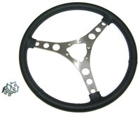 "Corvette Steering Wheel, leather wrapped 15"" replacement (without hub)"