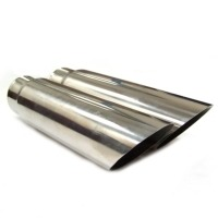 Corvette Extension, pair exhaust tip stainless steel