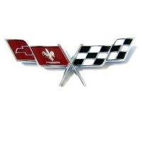 Corvette Emblem, side fender flags