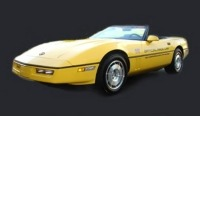 "Corvette Decal Kit, ""Pace Car"" gold with gold 70th (used on black cars)"