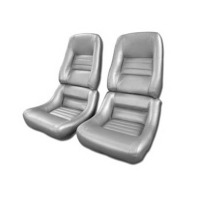 1978 Seat Cover Set Mounted on Foam, replacement silver leatherette (with Pace Car option)