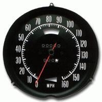 Corvette Speedometer, assembly needle & correct face plate