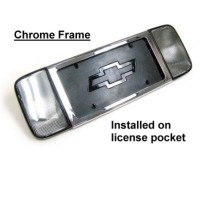 Corvette Rear License Plate Frame - Chrome