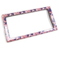 Corvette Rear License Plate Frame - Stars & Stripes