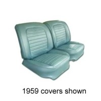 Corvette Seat Cover Set, vinyl as original