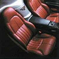 1997 - 2004 Seat Cover Set, original leather (leather/vinyl) [standard seats; without AQ9 option or Z06]