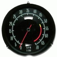 Corvette Tachometer, 5300 RPM red line (350/ 270hp.)