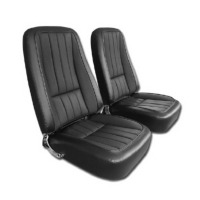 1968 Seat Cover Set, replacement leatherette with (basketweave inserts)