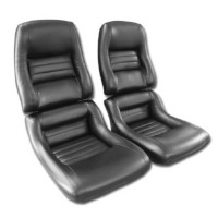 1979 - 1981 Seat Cover Set Mounted on Foam, original leather/vinyl
