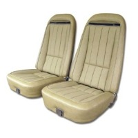 1970 - 1974 Seat Cover Set, vinyl with comfortweave inserts as original for standard interiors