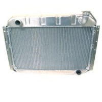 "1961E Radiator, aluminum ""Direct Fit"" Dewitt super-cool (solid lifter 270 hp & fuel injection)"