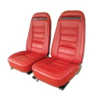1972 - 1974 Seat Cover Set, replacement leatherette (Deluxe interior)