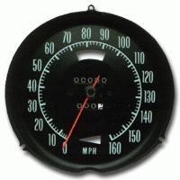 Corvette Speedometer, without speed warning