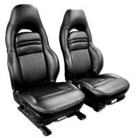 1997 - 2002 Seat Cover Set, original leather (leather/vinyl) [optional sport seats]