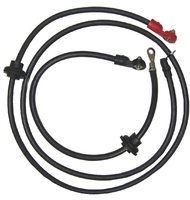 Corvette Cable Set, positive / negative battery