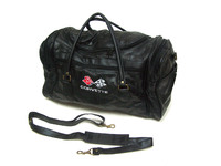 Corvette Leather Trip Bag with embroidered logo (C1, C2, C3, C4, C6)