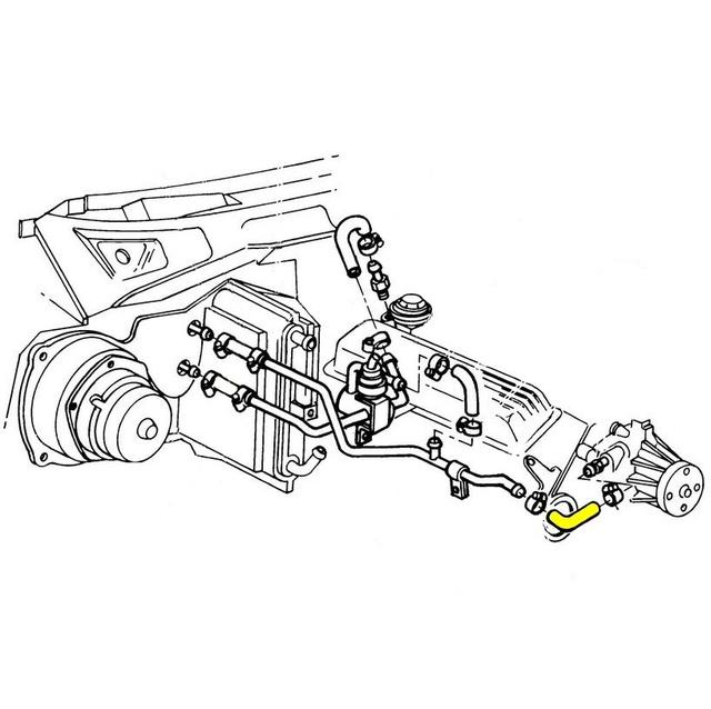 1984 corvette heater outlet pipe to water pump coolant heater hose  corvetteparts com