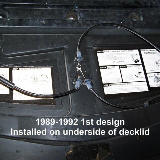 1989-1992 Corvette Soft Top//Convertible Top Release Cable