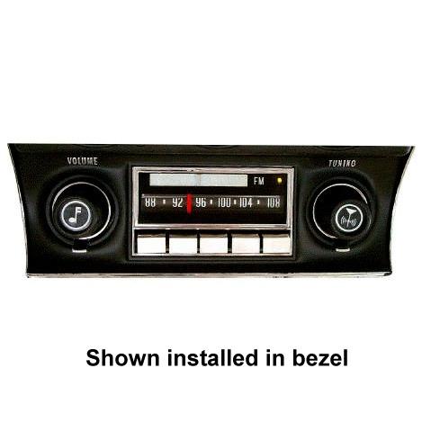 1972 1976 Corvette Reproduction Radio With Bluetooth