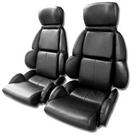 1989 - 1992 Seat Cover Set, original leather [without AQ9 sport seat option]