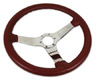 1967 - 1975 Steering Wheel, leather with chrome spokes