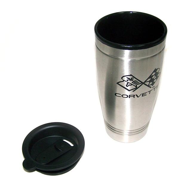 Corvette corvette stainless steel 14oz travel mug - Travel mug stainless steel interior ...