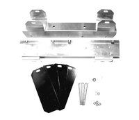 1960L - 1961E Bracket Set, top tank radiator mounting (solid lifter 270 hp or fuel injection engines)