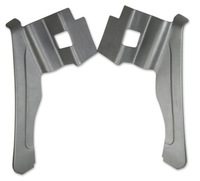 Corvette Panel, pair rear quarter trim (convertible) with shoulder harness