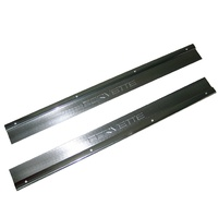 1978 - 1982 Sill Plate, pair aftermarket with engraved CORVETTE script (brushed aluminum finish)
