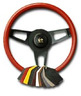 "2006 - 2013 Cover, steering wheel leather wrap ""Black"""