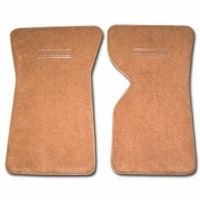 Corvette Floor Mat, pair front carpeted with Die-Electric logo (without Collectors Edition)