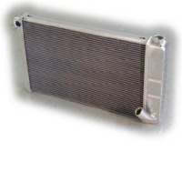 "1969 - 1972 Radiator, aluminum 26"" wide ""Direct Fit"" super-cool (350 engine / manual - with air conditioning)"