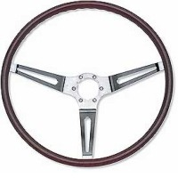 Corvette Steering Wheel, simulated walnut woodgrain