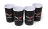 "C6 ""Corvette"" Black Tumbler Set (4 piece)"