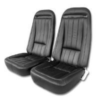 Corvette Seat Cover Set, replacement leatherette (Deluxe interior)