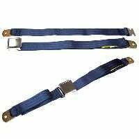 "1956 - 1968 Seatbelt Set, universal ""1956-63 replacement lap style""  (silver)"