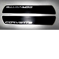 2005 - 2013 Sill Plate, pair brushed aluminum with die-cut black vinyl