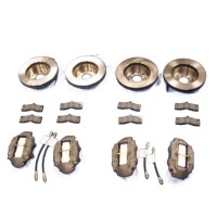 1965 - 1966E Brake Package, with (replacement style) stainless steel sleeved calipers