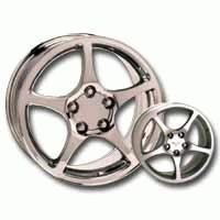 Wheel, chrome 2000 style 17 x 8.5